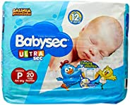 Fralda Babysec Galinha Pintadinha Ultrasec P 20 Unids, Babysec, P