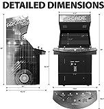 "Creative Arcades Full-Size Commercial Grade Cabinet Arcade Machine | Trackball | 3500 Classic Games | 4 Sanwa Joysticks | 2 Stools Included | 32"" Screen | 3-Year Warranty"
