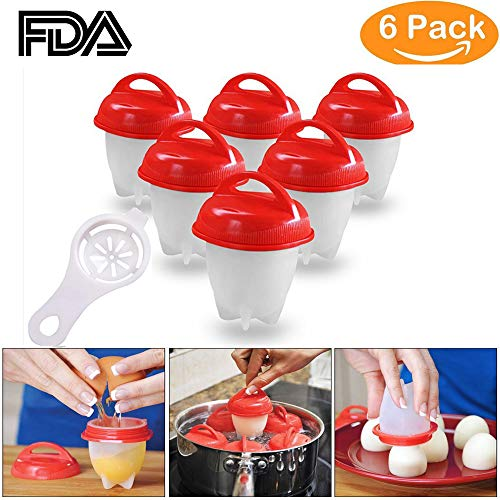 - YTH Egg Cooker-Silicone Egg Poachers for hard boiled eggs,Egg Cups AS SEEN ON TV,Hard&Soft Maker,Boil Eggs Without the Egg Shell (Pack of 6) (Silicone Egg)