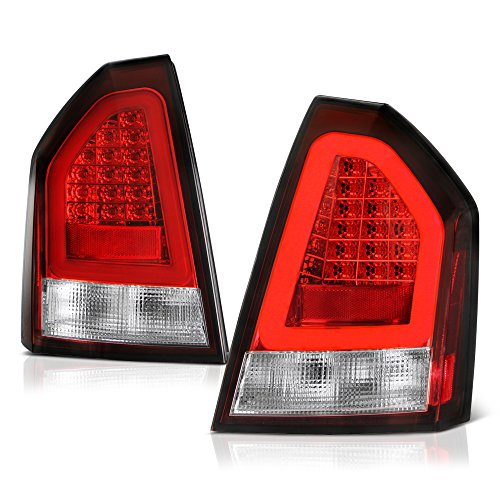 - VIPMOTOZ Red Lens Premium OLED Neon Tube LED Tail Light Housing Lamp Assembly For 2005-2007 Chrysler 300 Driver and Passenger Side Replacement