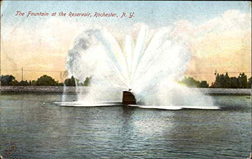 The Fountain At The Reservoir Rochester, New York Original Vintage Postcard (Rochester Fountain)