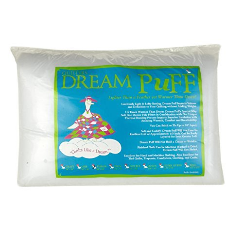 Quilters Dream Puff Batting x 60in Throw Each White