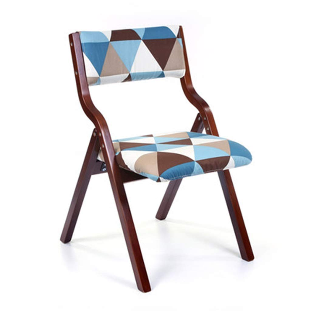 Brown 8 48.54678.5cm Folding Chairs Chair Living Room Folding Chair Desk Chair Nordic Restaurant Chair Portable Office Chair Household Solid Wood Chair, Folding Does Not Take Up Space