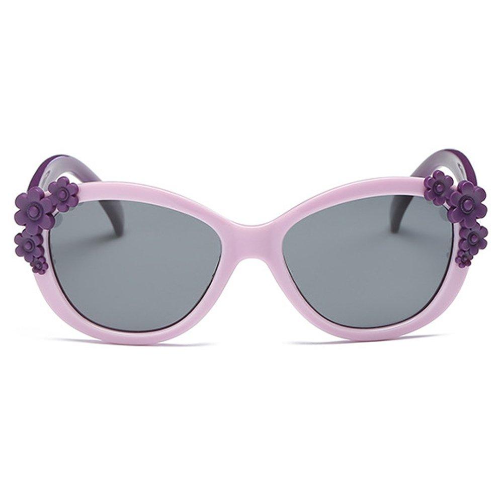 Fantia Comfortable Girls Sunglasses Children Eyeglass Polarized Glasses (Purple)