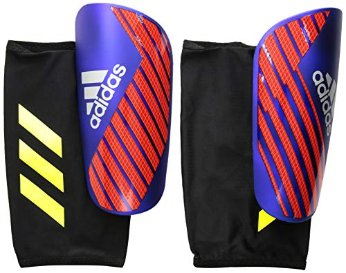 - adidas X Pro Shinguard, Bold Blue/Active Red/Silver Met, Small