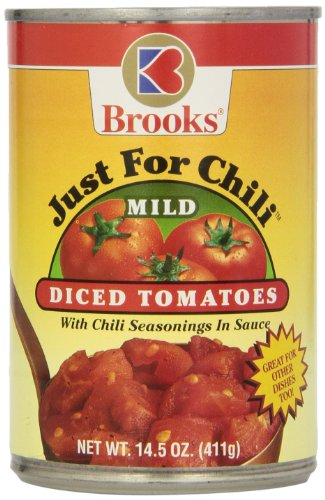 Brooks Just for Chili Diced Tomatoes, Mild, 14.50 Ounce (Pack of 12)