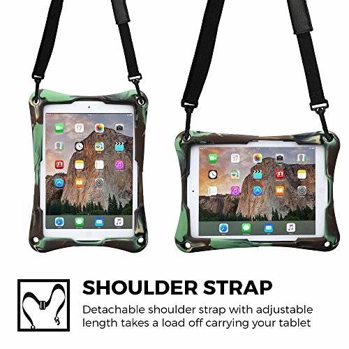 Heavy Toy Tough Stand Carrying TROOPER case 7'' Work Kids Blue Protective Shoulder Holder Silicon Drop tablet Rugged 9 COOPER Bumper Strap 2K Carry Rubber 9 Shock Proof inch Cover Bag Military Duty wPOgCgq