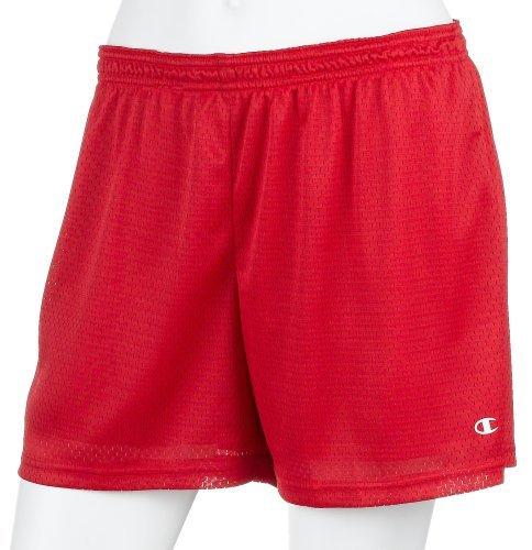Champion Women's Athletic Classics Mesh Short, Scarlet, Large -