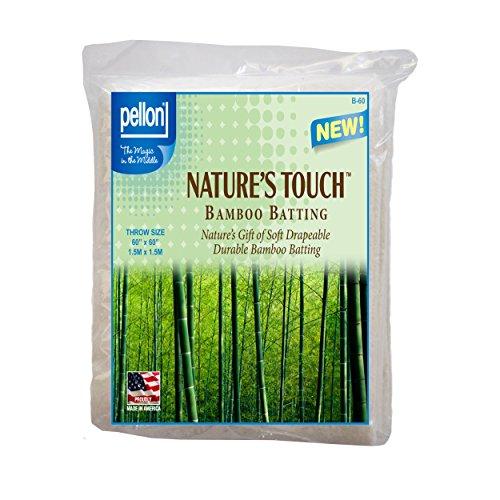 Pellon B-60 Nature's Touch Bamboo Blend Batting W/Scrim - Throw 60