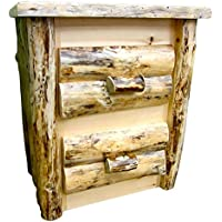 Midwest Log Furniture - Rustic Log Nightstand - 2 Drawer