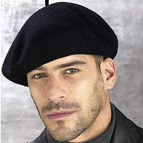 ISMILE Dualuse Painter Hats 100/% Wool Beret Winter MenS Formal Wear Professional Casual Dualuse Cap Male Hat Hot,Black,58Cm