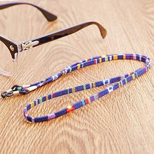 Sportbrille Halsband Buleerouy Brillenband Seil Sonnenbrille 4 Farben verstellbar Band