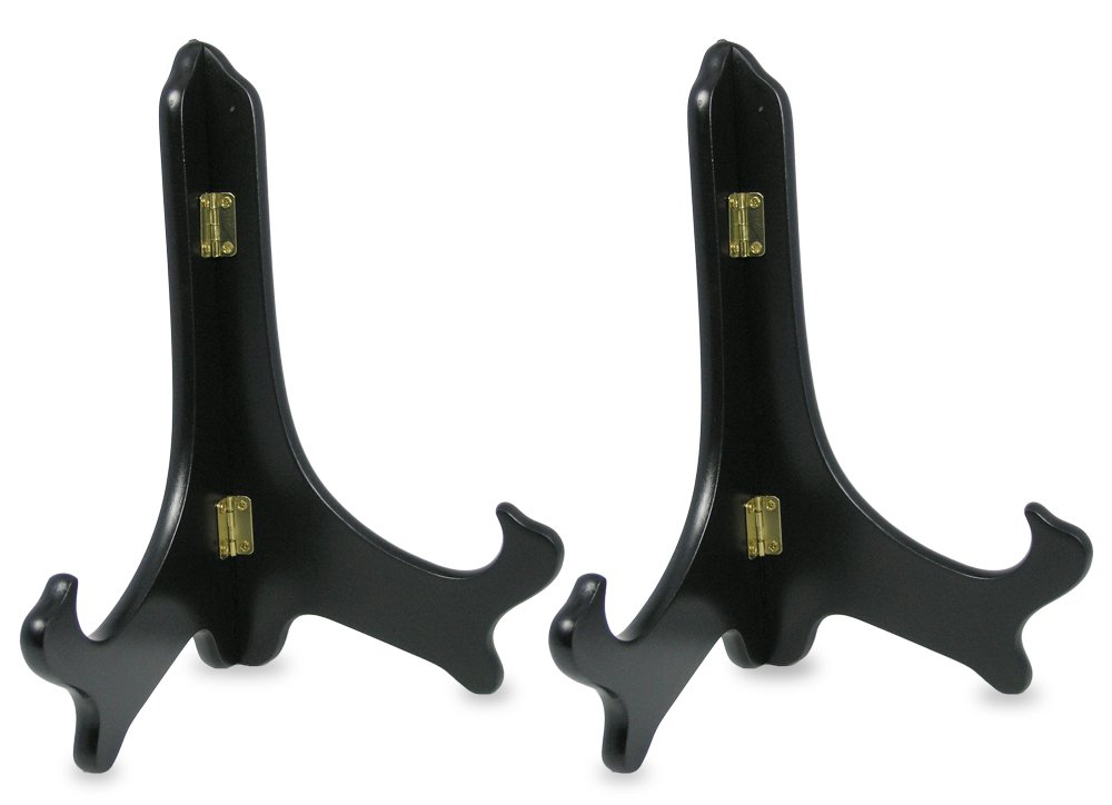 Amazon.com Black Wooden Easels Premium Quality Plate Holder Folding Display Stand - 9 Inch - Set of 2 Pieces Home \u0026 Kitchen  sc 1 st  Amazon.com & Amazon.com: Black Wooden Easels Premium Quality Plate Holder Folding ...
