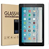 All-New Fire HD 10 Screen Protector Tempered Glass Screen Protector Film for All New Fire HD 10 Tablet (7th 2017 Release)
