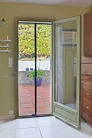 Tranquilisafe® - Cortina Mosquitera Magnética para puertas y puertas ventanas exterior - Mosquitera con cierre Magnético y automático - Compatible con las gateras ...