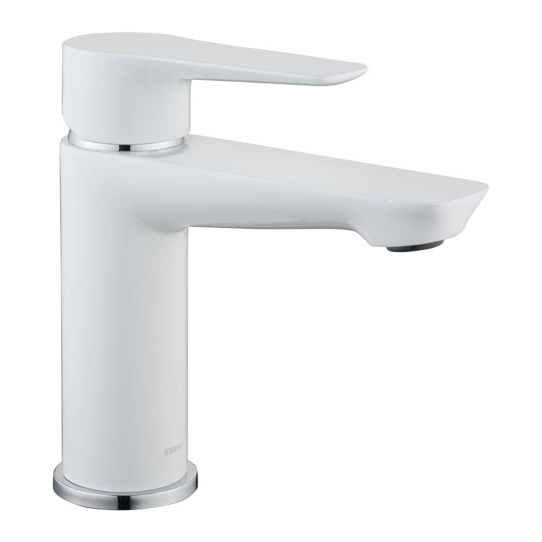 Modern Bathroom Faucet Single Handle Solid Brass Body Construction