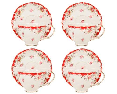 Rose Cup Saucer Set - 9