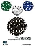 Orologio forma rolex 30x28,5cm 1979/00 virginio