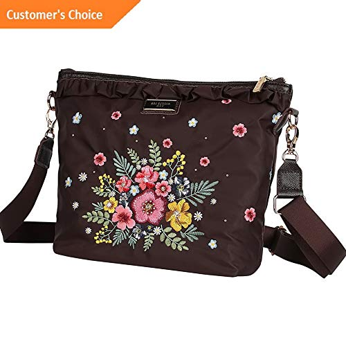 Amazon.com: Sandover Nicole Lee Adira Garden Embroidery Mini Crossbody Cross-Body Bag NEW | Model LGGG - 11532 |: Sandover