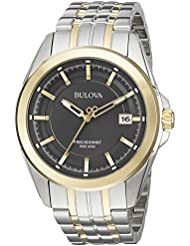 Bulova Mens Quartz Stainless Steel Dress Watch (Model: 98B273)