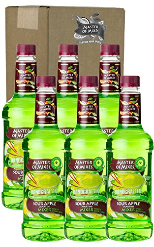 [Master of Mixes Sour Apple Martini Drink Mix, Ready to Use, 1 Liter Bottle (33.8 Fl Oz), Pack of 6] (Cherry Apple Costumes)