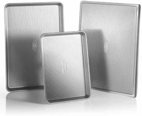 USA Pan 3-Piece Warp Resistant Non-Stick Aluminized Steel Bakeware Set