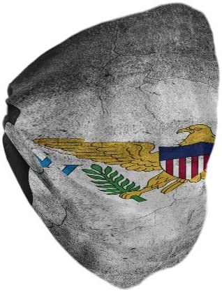 Ningboo 2Pcs US Virgin Islands Flag Face Scarf Magic Bandanas Bandanas Neck Gaiter Balaclava