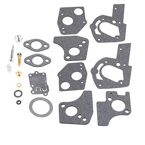 Kizut 494624 495606 Carburetor Overhaul Kit for Briggs and Stratton 3-5.5 HP Horizontal Engine 80200 81200 82200 133200 135200 92200 Lawn Mower (Briggs And Stratton 3-5 Hp Carburetor Rebuild)