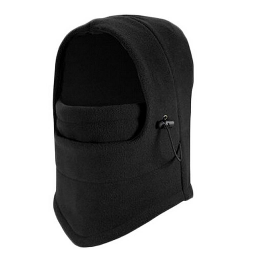 Laimeng_World Winter Fleece Scarf Neck Warmer Face Mask Skiing Cycling Hiking Mask (Black)