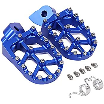 Blue Motorcross Wide Fat Foot Pegs for Yamaha WR250R 2008-2015