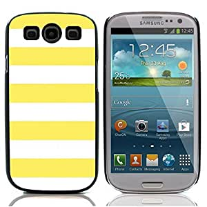 Graphic4You Color Stripes Pattern Design Hard Case Cover for Samsung Galaxy S3 S III (Yellow)