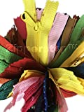50 Pieces Nylon Coil YKK Zippers for Tailor Sewing Crafts 25 Colors - Made in USA - Made in USA