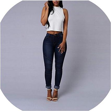 Beautyg Women Jeans Pantalones Vaqueros Para Mujer Tamano Grande Cintura Alta Pantalones A La Moda Hasta El Tobillo Amazon Es Hogar