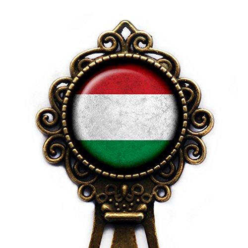 Hungary Hungarian Flag Bronze Bookmark