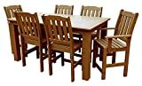 Cheap Phat Tommy Outdoor Recycled Poly Highwood Lehigh Rectangle Dining Set