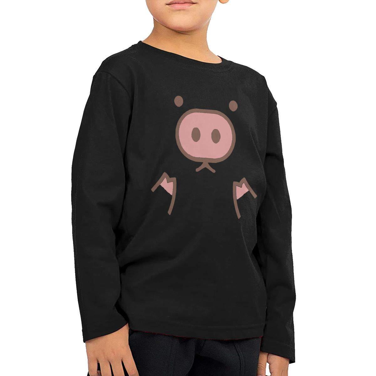Childrens Piggy Cute Pig Cartoon ComfortSoft Long Sleeve Tee