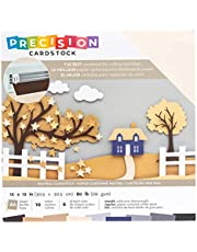 """American Crafts Precision Cardstock Pack 80lb 12""""X12"""" 60/Pkg-Neutral/Smooth"""