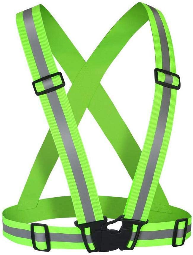 Jebester Reflective Vest - Safety Vest | Nighttime High Visibility for Running - Cycling - Walking | Easy to Adjust | Lightweight Elastic | Put It on Directly Over Your Shirt - Sports Gear