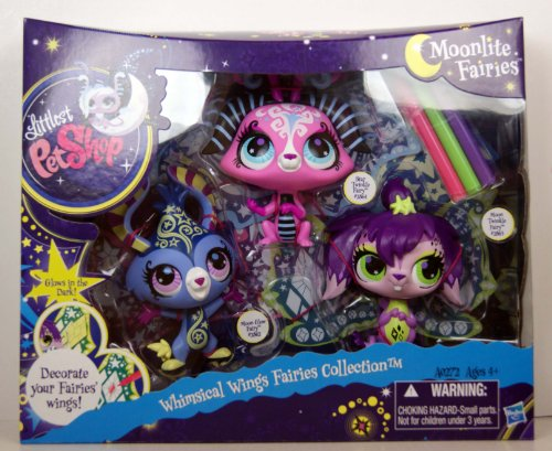 Littlest Pet Shop Moonlight Fairies Whimsical Wings Fairies Collection -
