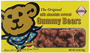 Garvey Nut and Candy Gummy Bears, The Original Milk Chocolate Covered, 3-Ounce Boxes (Pack of 12)