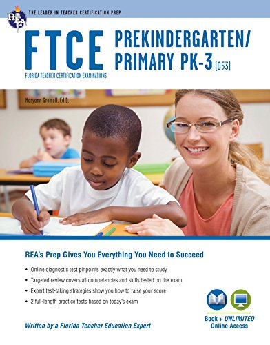Pdf Test Preparation FTCE PK/Primary Pk-3 Book + Online (FTCE Teacher Certification Test Prep)