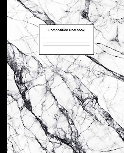 Composition Notebook: Luxury White Marble College Ruled Blank Lined Cute Notebooks for Girls Women Teens Kids School Writing Notes Journal (7.5 x 9.25 in)