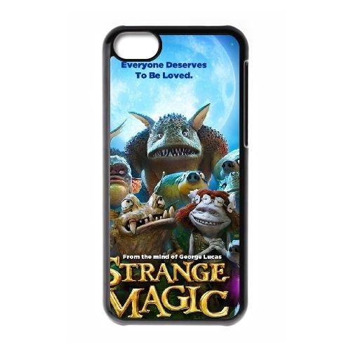 Strange Magic 2 coque iPhone 5c cellulaire cas coque de téléphone cas téléphone cellulaire noir couvercle EEECBCAAN02181