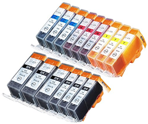 15 Compatible Remanufactured Inkjet Cartridge (Sherman Inks 15 Pack Compatible CLI-226 , PGI-225 3 Small Black, 3 Cyan, 3 Magenta, 3 Yellow, Ink Cartridge for use with PIXMA iP4820, iP4920, iX6520, MG5120, MG5220, MG5320, MG6120, MG6220, MG8120, MG8120B, MG8220, MX712, MX882, MX892 pgi225 cli226 inkjet Cartridges)