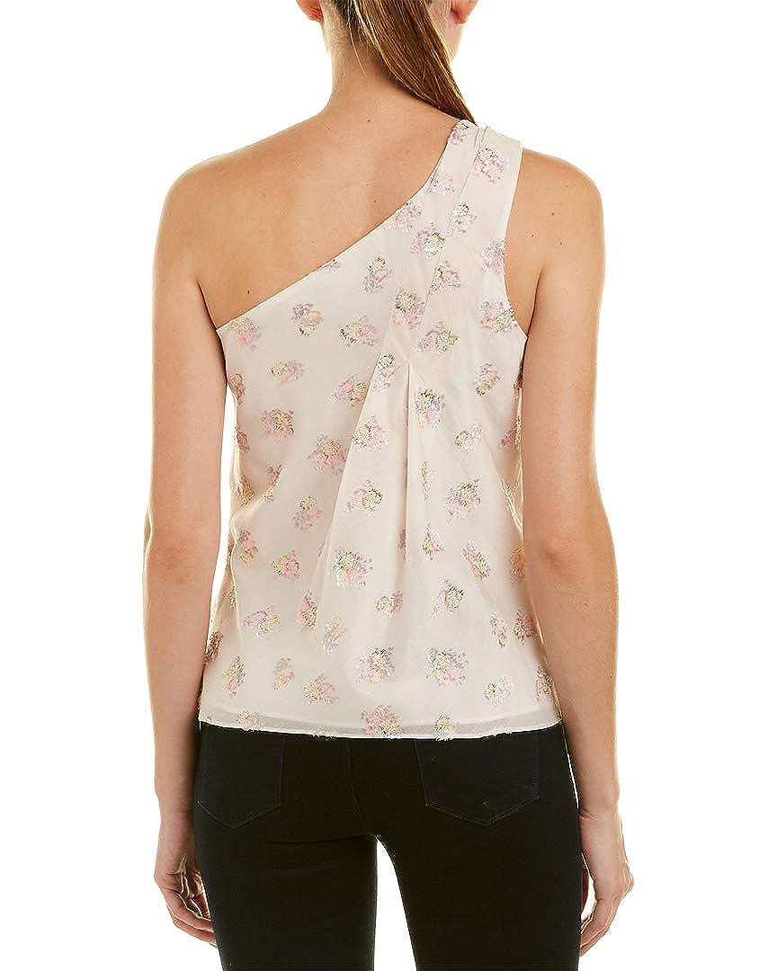 69a1403759ff8 Amazon.com  Rebecca Taylor Womens One-Shoulder Jacquard Silk-Blend ...