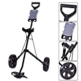 New Folding 2 Wheel Push Pull Golf Club Cart Trolley Swivel w/Scoreboard Lightweight