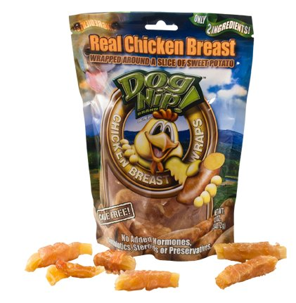 Free Range Chicken Breast Wraps w/ Sweet Potato Dog Chew Treats (Pack of 6), My Pet Supplies