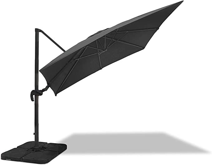 Jati Umbra 3 x 3m Square Cantilever Parasol with Cover Green