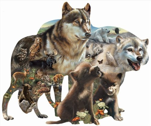 Wolf Pack a 1000-Piece Jigsaw Puzzle by Sunsout Inc.