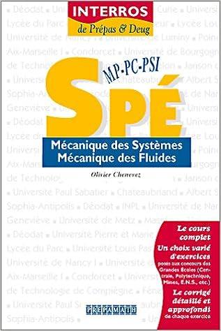 Lire un Mécanique des systèmes - Mécanique des fluides Spé MP-PC-PSI epub, pdf
